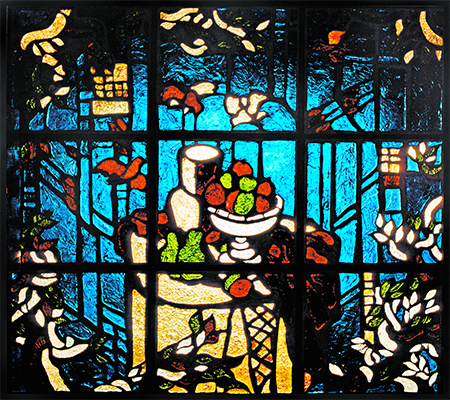 Stained-glass windows, mosaics, enamels